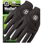 FJ Weathersof Golf handschoen heren 2 Pack Zwart