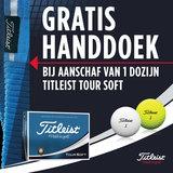 Titleist Tour Soft Golfballen Gratis Handdoek_