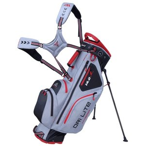 Big Max Dri Lite Hybrid Standbag Silver Black Red