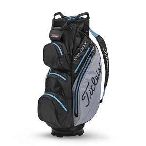 Titleist Cartbag StaDry Deluxe Black Sleet Process Blue