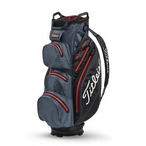 Titleist Cartbag StaDry Deluxe Charcoal Black Red
