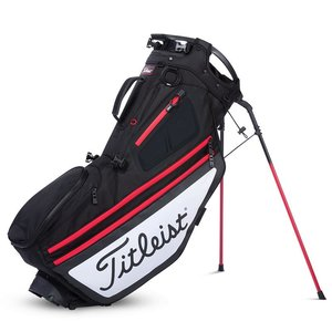 Titleist Hybrid 14 Standbag Black White Red