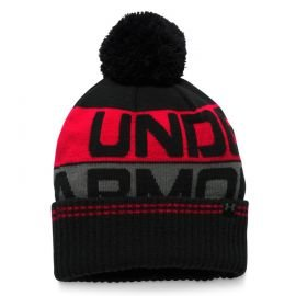 Under Armour Beanie Retro Pom Zwart Rood