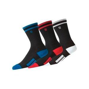 Footjoy Junior ProDry Crew Golf Sokken lang Zwart