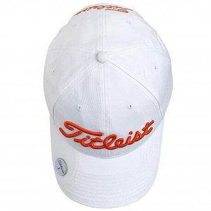 Titleist Ball Marker Cap Wit Oranje