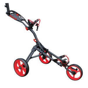 iCart One Compact 3 Wiel Golf Trolley Zwart Rood