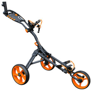 iCart One Compact 3 Wiel Golf Trolley Zwart Oranje