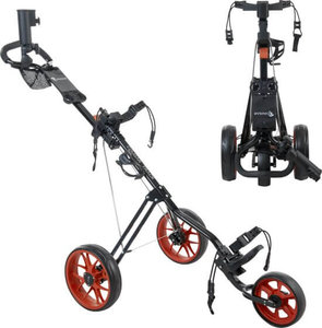 Cougar Track Golf Trolley Zwart Rood