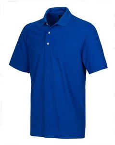 Greg Norman Performance Micro Pique Golf Polo Kobalt