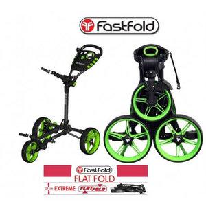 Fastfold Flat Golftrolley Zwart Lime