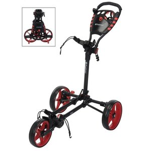 Fastfold Flat Golftrolley Charcoal Rood
