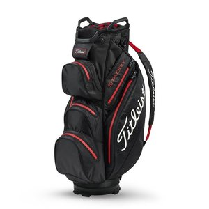 Titleist Cartbag StaDry Deluxe Black Red