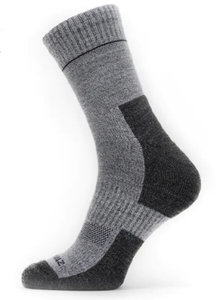 Sealskinz Solo QuickDry Ankle Length Socks Grijs Navy 39-42