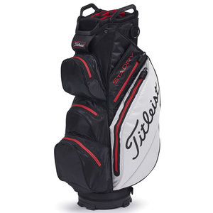 Titleist Cartbag StaDry Deluxe Black White Red