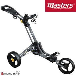 iCart Go 3 Wiel Golf Trolley Grey Black