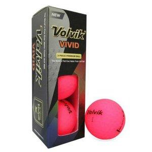 Volvik Vivid Golfballen Sleeve Pink