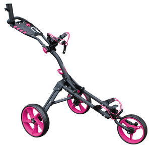iCart One Compact 3 Wiel Golf Trolley Charcoal Pink