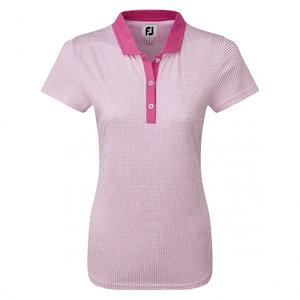 Footjoy Cap Sleeve Micro Dot Print Pink