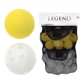 24 Plastic holle + 12 Foam golfballen
