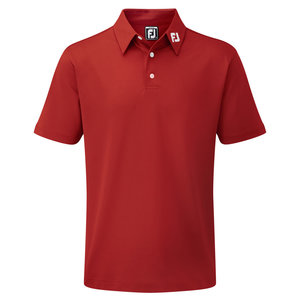 Footjoy Stretch Pique Solid Polo Junior Rood