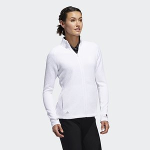 Adidas Textured Layer Golf Sweater Wit