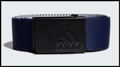 Adidas Reversible Webbing Belt Navy Grijs