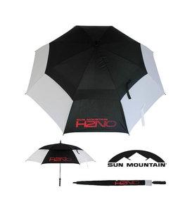 Sun Mountain H2NO Dual Canopy Golf Paraplu Wit Zwart