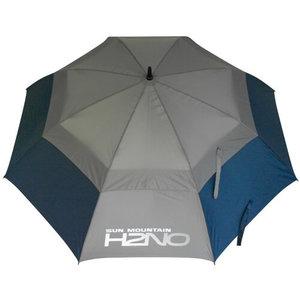 Sun Mountain H2NO Dual Canopy Golf Paraplu Navy Grijs