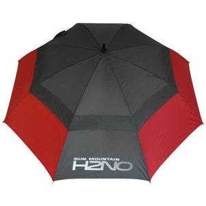 Sun Mountain H2NO Dual Canopy Golf Paraplu Rood Grijs