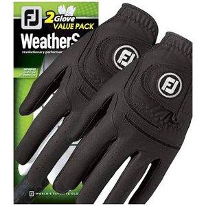 FJ Weathersof Golf handschoen heren 2 Pack Zwart