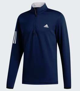 Adidas Core Heather 1/4 Rits Navy