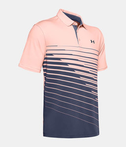 Under Armour Playoff 2.0 Polo Shirt Pink Navy