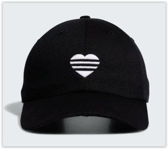 Adidas 3 Stripes Heart Cap Black