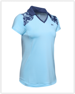 Under Armour Zinger Blocked Polo Blue