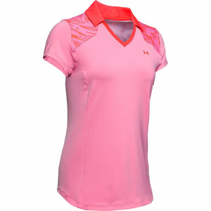 Under Armour Zinger Blocked Polo Pink