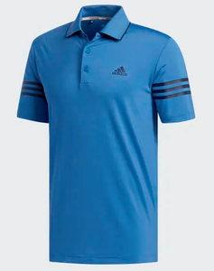 Adidas Ultimate 365 blocked Golf Poloshirt Blauw 3 Stripes