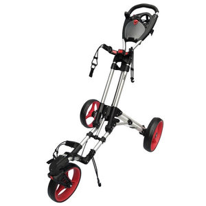 Fastfold 360 Golftrolley Zilver Rood