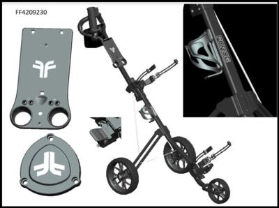 Fastfold Force 3 wiel Golftrolley zwart