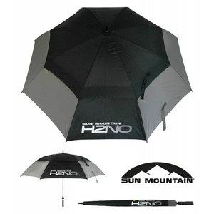 Sun Mountain H2NO Dual Canopy Golf Paraplu Zwart Charcoal