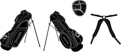Spalding 7-inch Standbag Zwart Wit