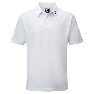 Footjoy Stretch Pique Solid Polo Junior Wit