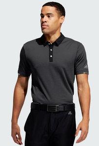 Adidas H.RDY Micro Stripe Polo Shirt Carbon Black