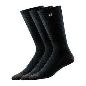 Footjoy ProDry 3 paar heren Sokken lang Zwart
