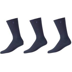 Footjoy ComfortSof Crew 3 paar heren Sokken lang Navy