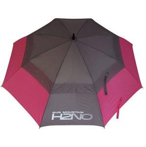 Sun Mountain H2NO Dual Canopy Golf Paraplu Pink Grijs