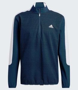 Adidas Primegreen Printed Quarter-Zip Pullover Blauw