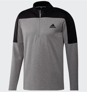 Adidas 1/4 Rits Lichtgewicht Sweater Grijs Zwart
