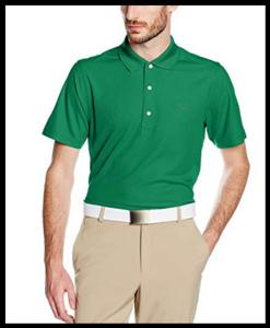 Greg Norman Performance Micro Pique Golf Polo Groen