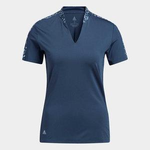 Adidas Ultimate Print Dames Polo Shirt Navy