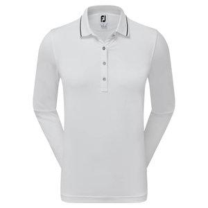 Footjoy Dames Thermal Jersey Lange Mouw Polo Wit